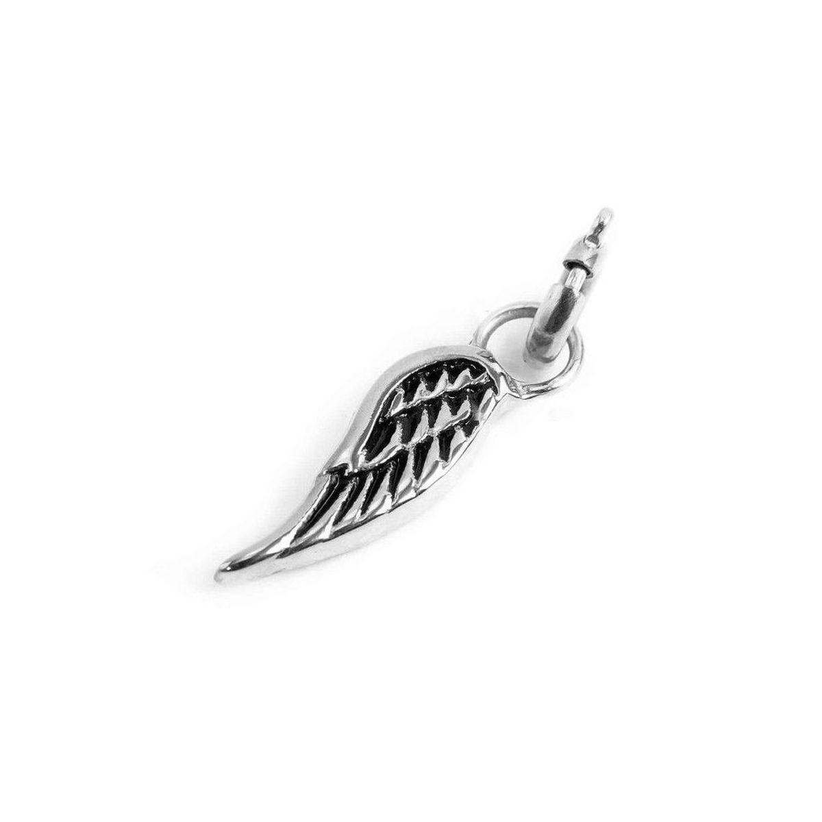 Wing steel charm Steel Marlù
