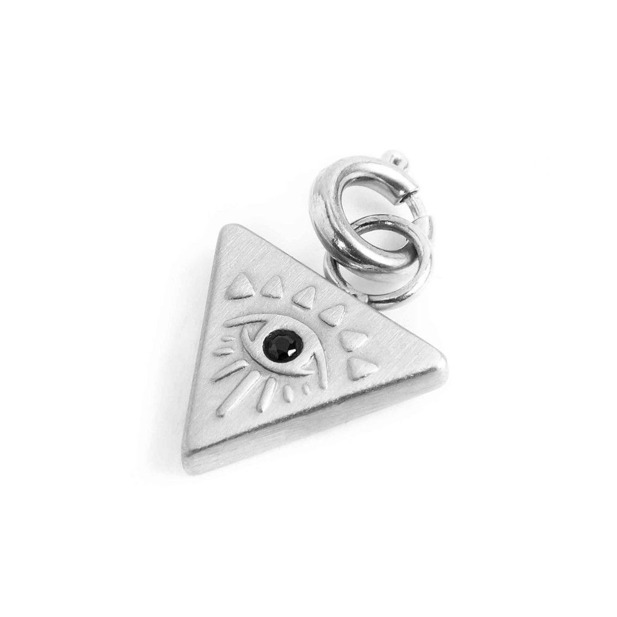 Triangle steel charm with eye Steel Marlù