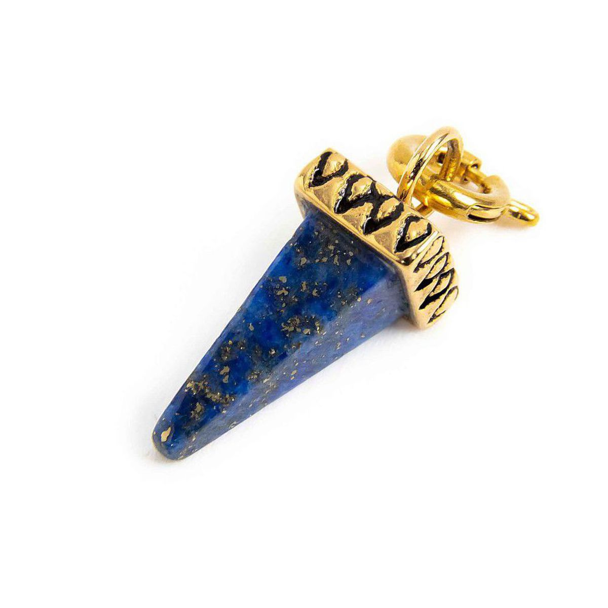 Charm steel spike lapis blue Gold Marlù