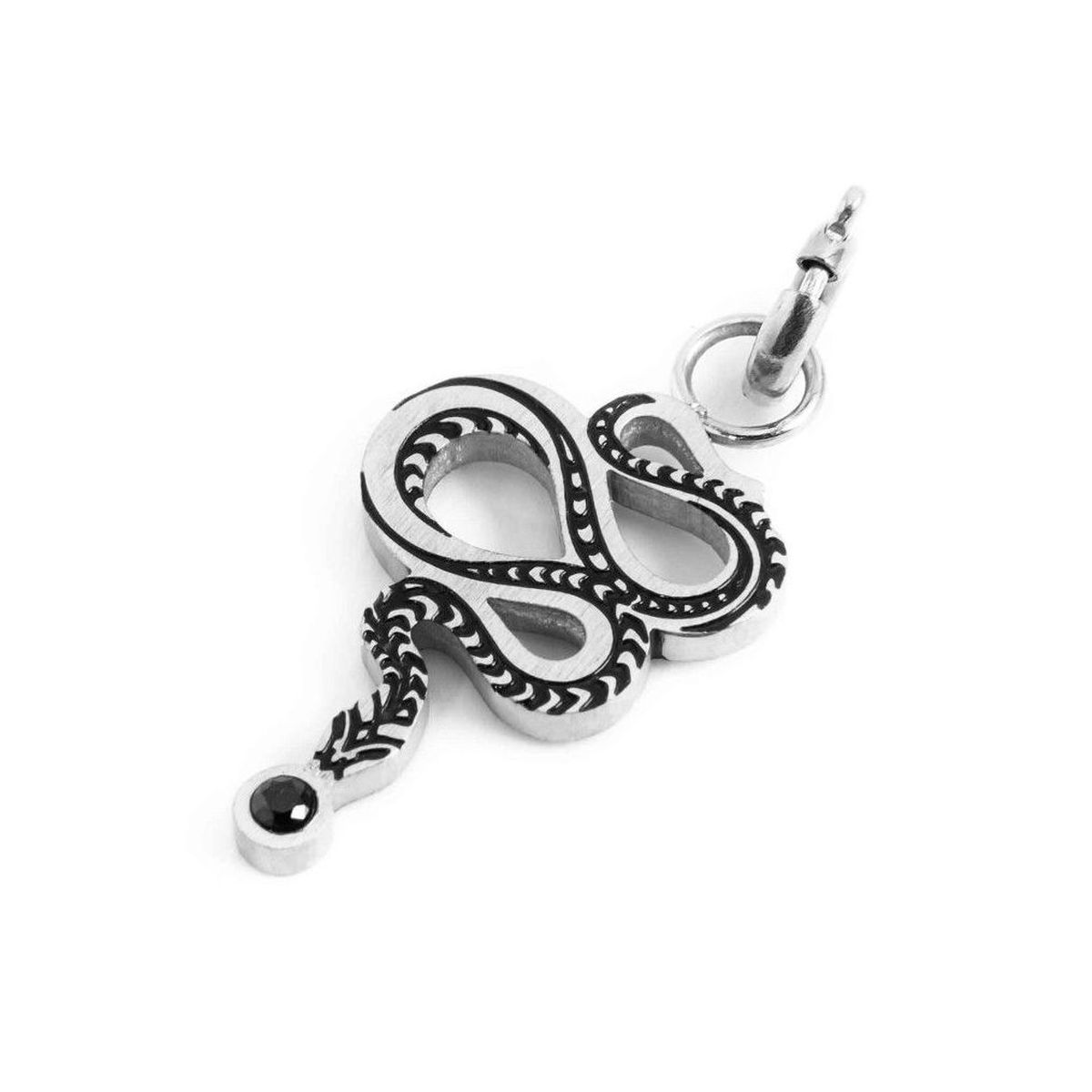 Snake charm in brushed steel Steel Marlù