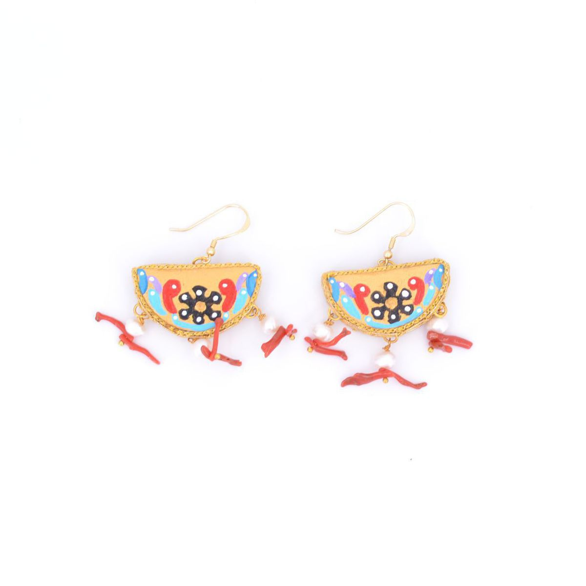 Treasure Wear Earrings 30 mm Red Tataratà Bijoux