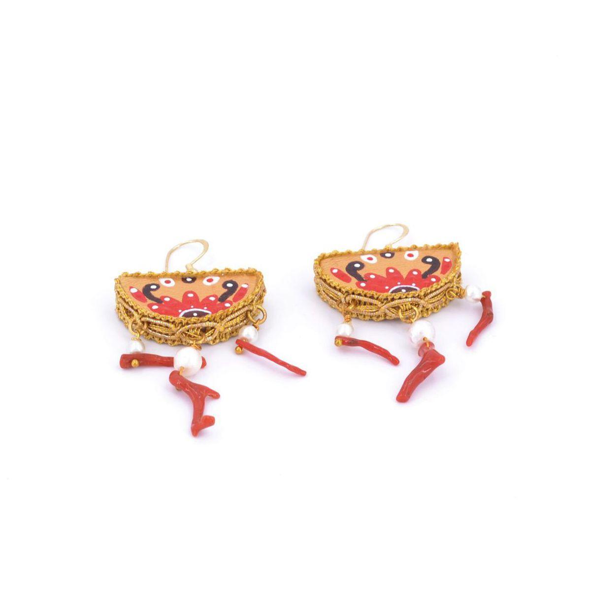 Treasures to Wear Earrings 2 Red Tataratà Bijoux