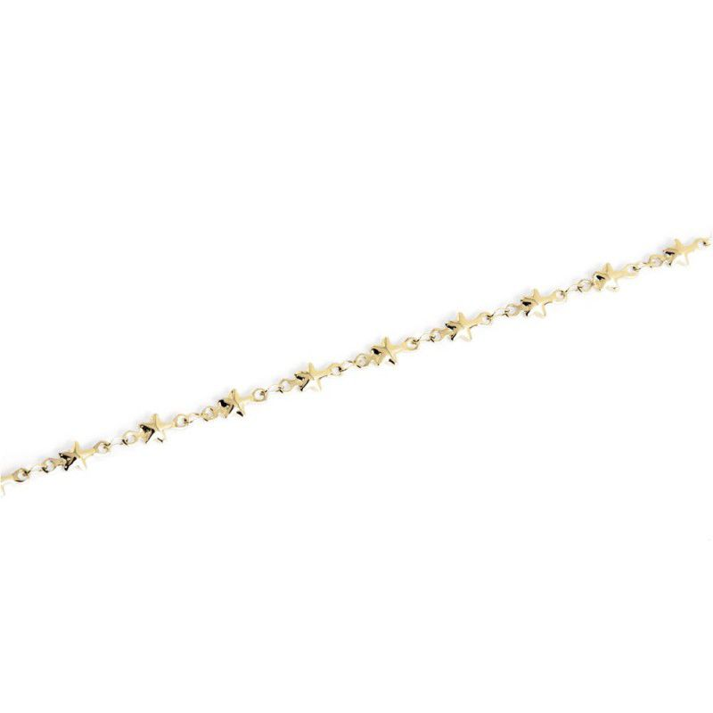 Steel chain necklace with stars 50 cm Gold Marlù