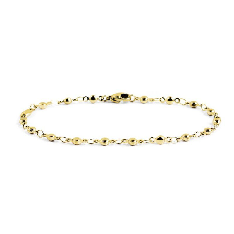 Steel chain bracelet with spheres Gold Marlù