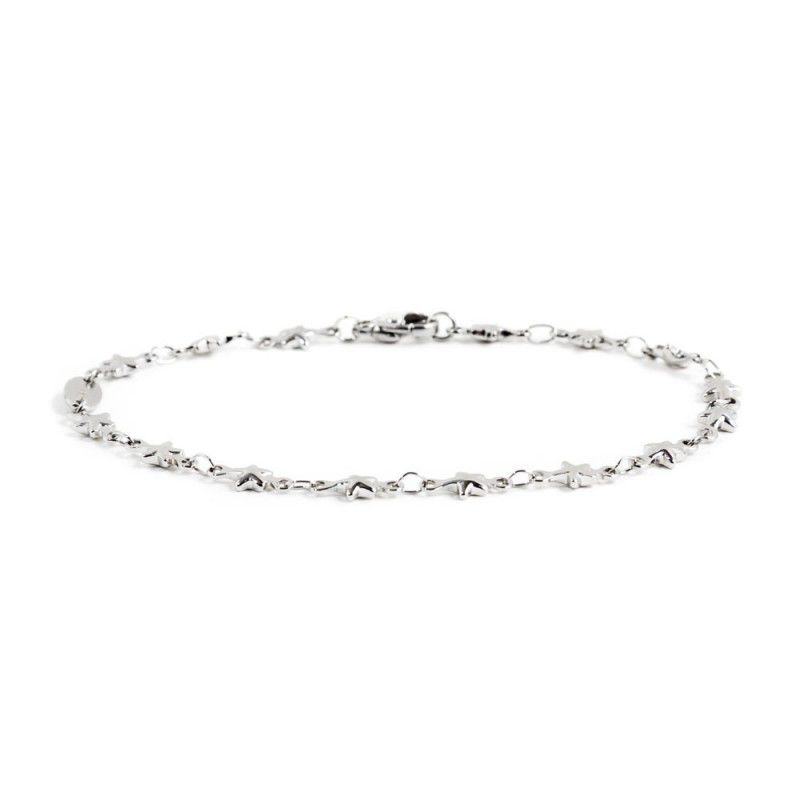 Steel chain bracelet with stars Steel Marlù