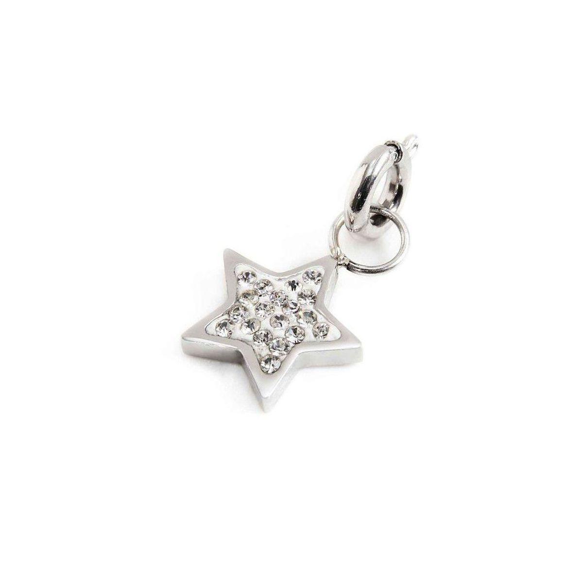 Rhinestone star charm Steel Marlù