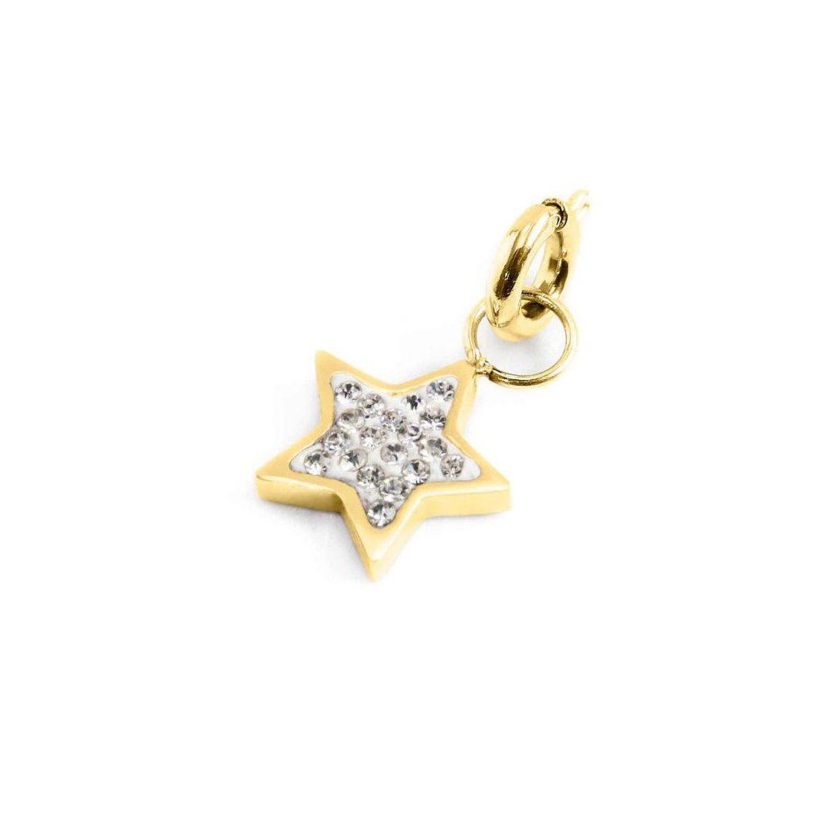 Rhinestone star charm Gold Marlù