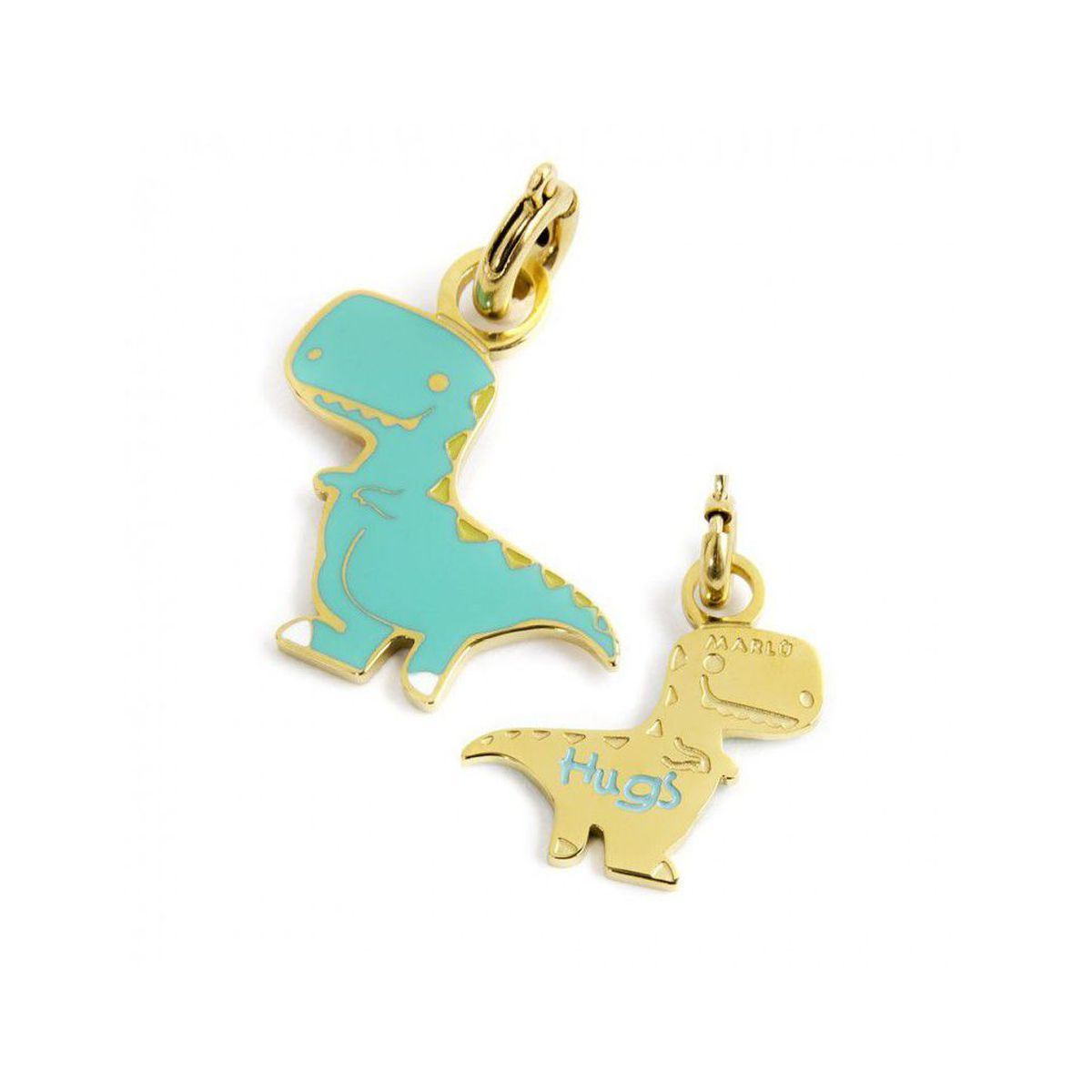 Colored Dinosaur Charm Gold Marlù