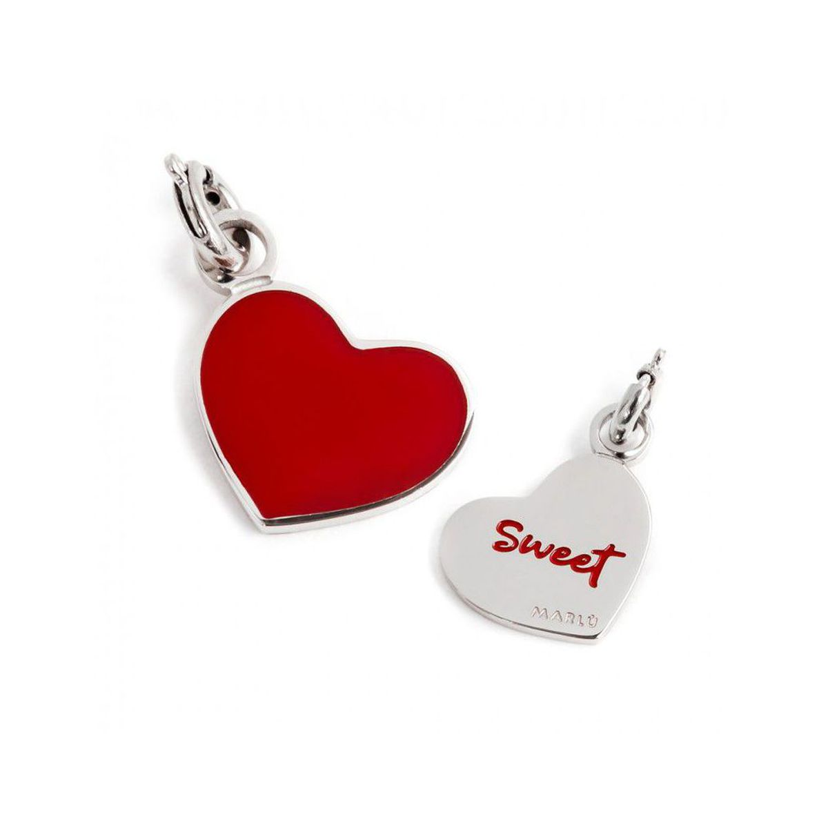Colored heart charm Steel Marlù