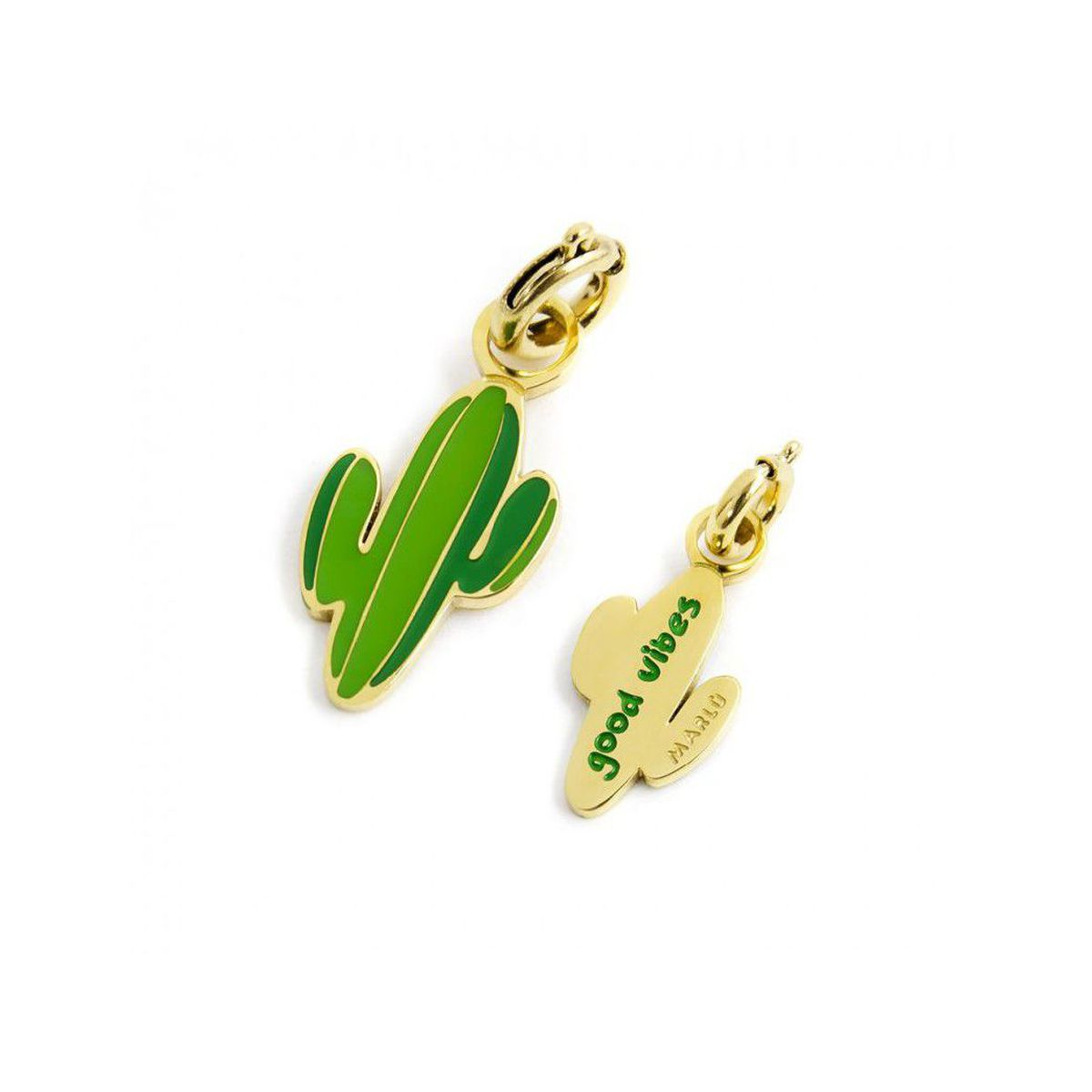Colored cactus charm Gold Marlù