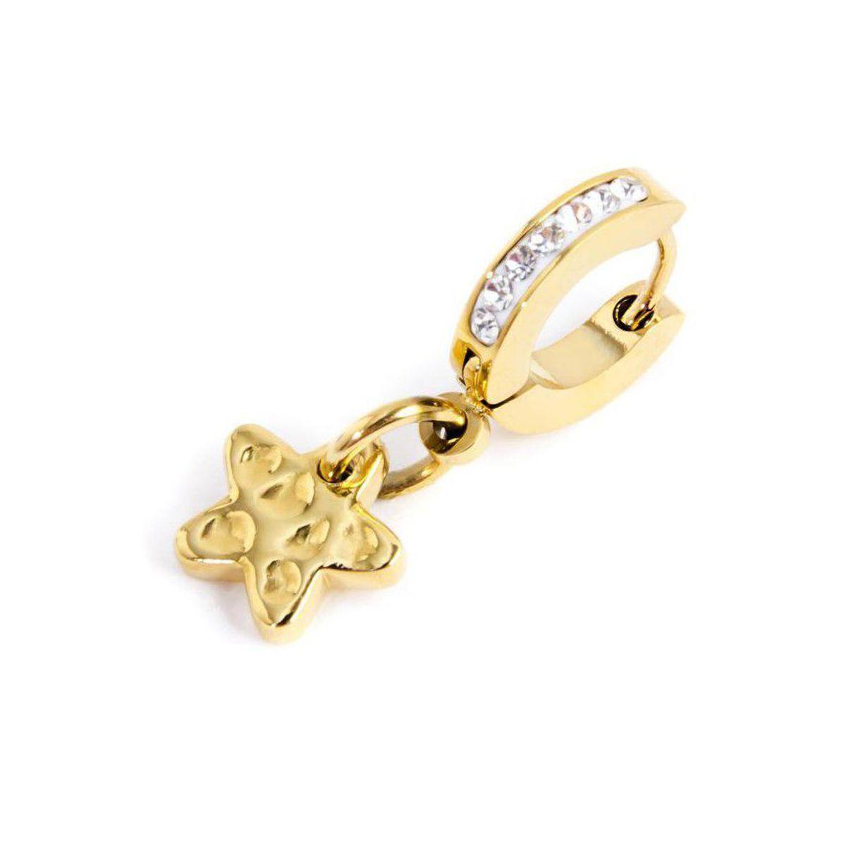 Single earring star circle 11 mm Gold Marlù