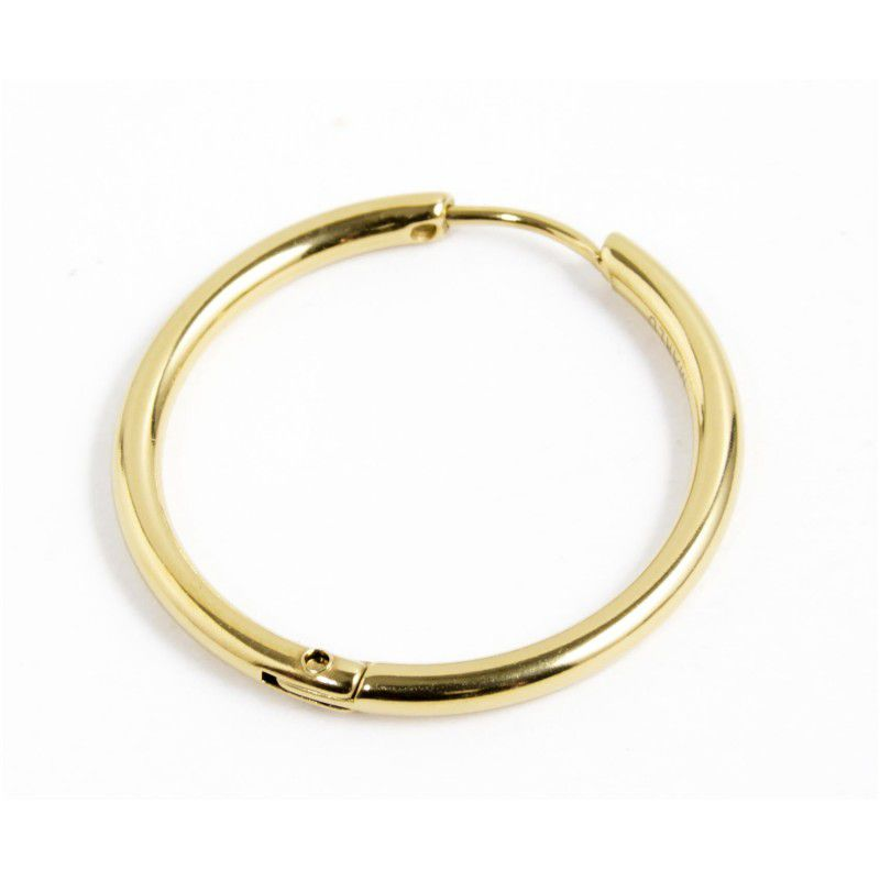 Single earring circle 24 mm Gold Marlù