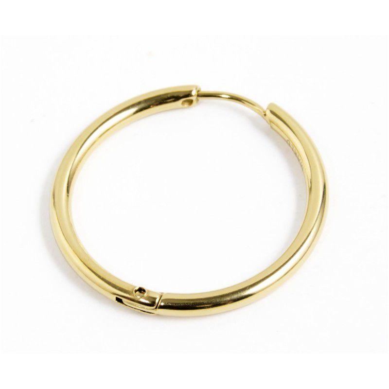 Single earring circle 24 mm Gold Marlù