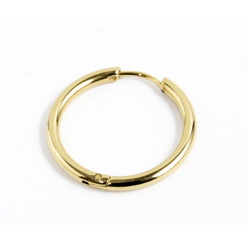 Single earring circle 20 mm Gold Marlù
