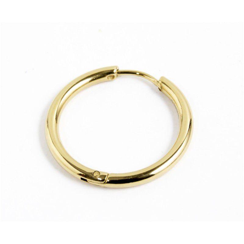 Single earring circle 20 mm Gold Marlù