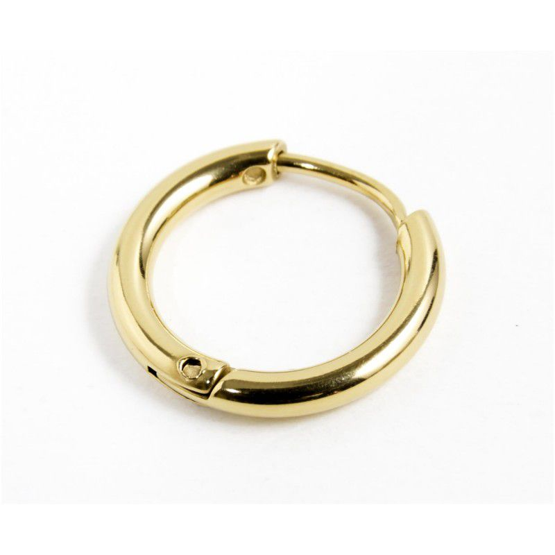 Single earring circle 16mm Gold Marlù