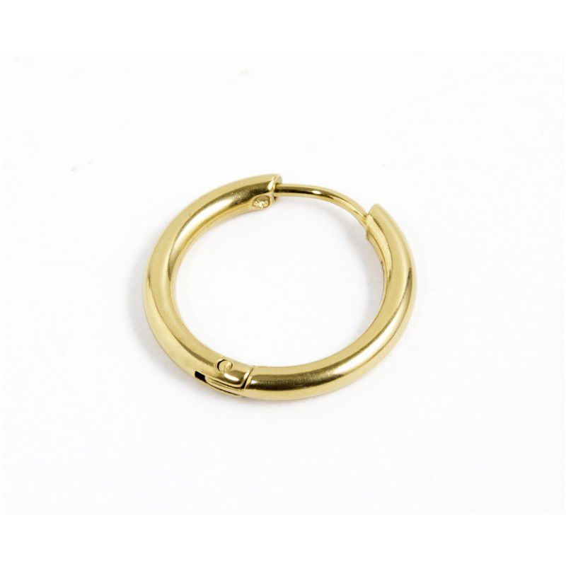 Single earring circle 14 mm Gold Marlù