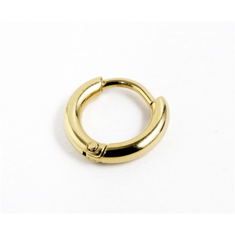 Single earring circle 11 mm Gold Marlù