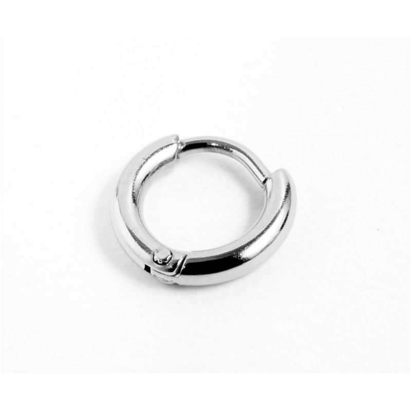 Single earring circle 11 mm Steel Marlù
