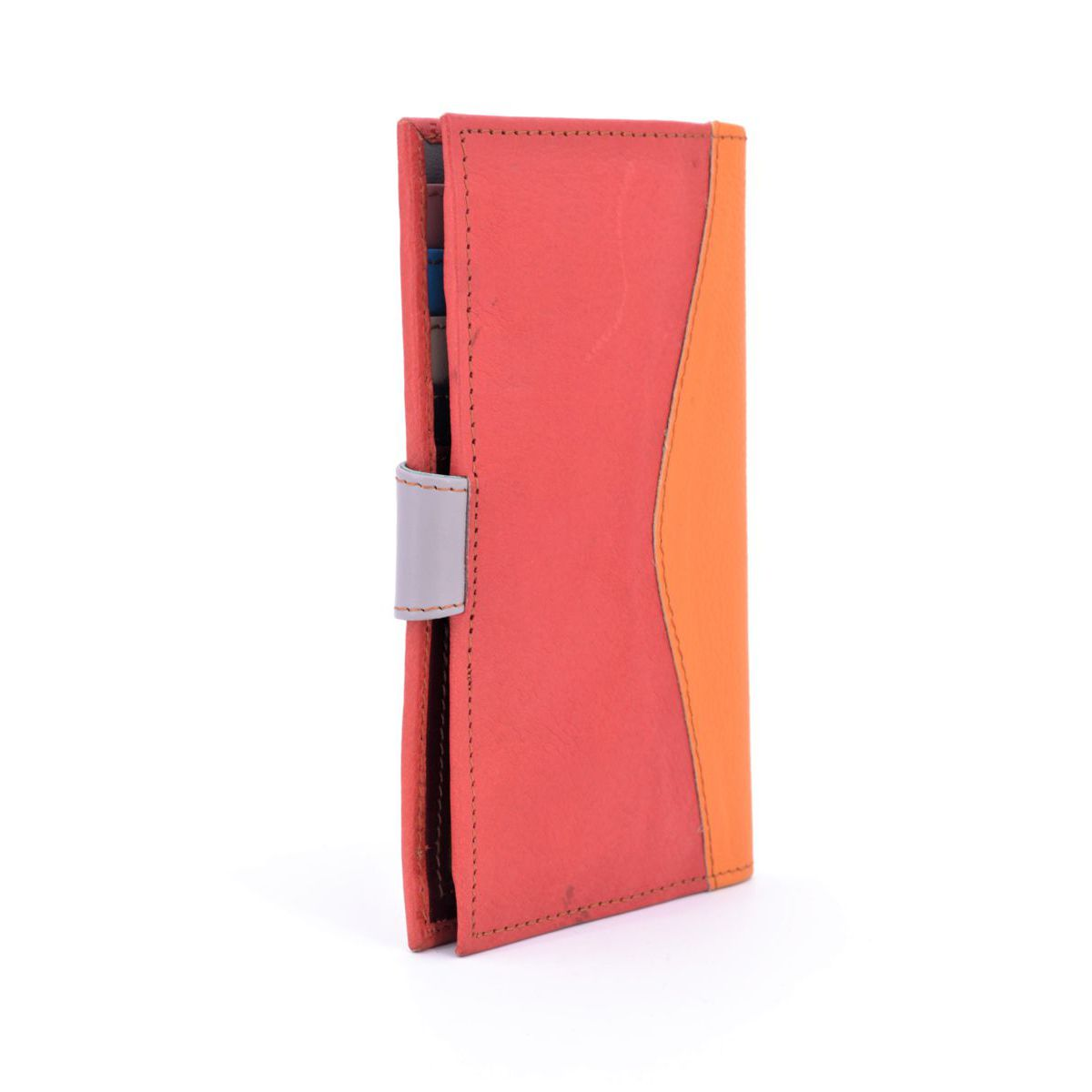 Colors wallet in red recycled leather Grey BRASS Workshop