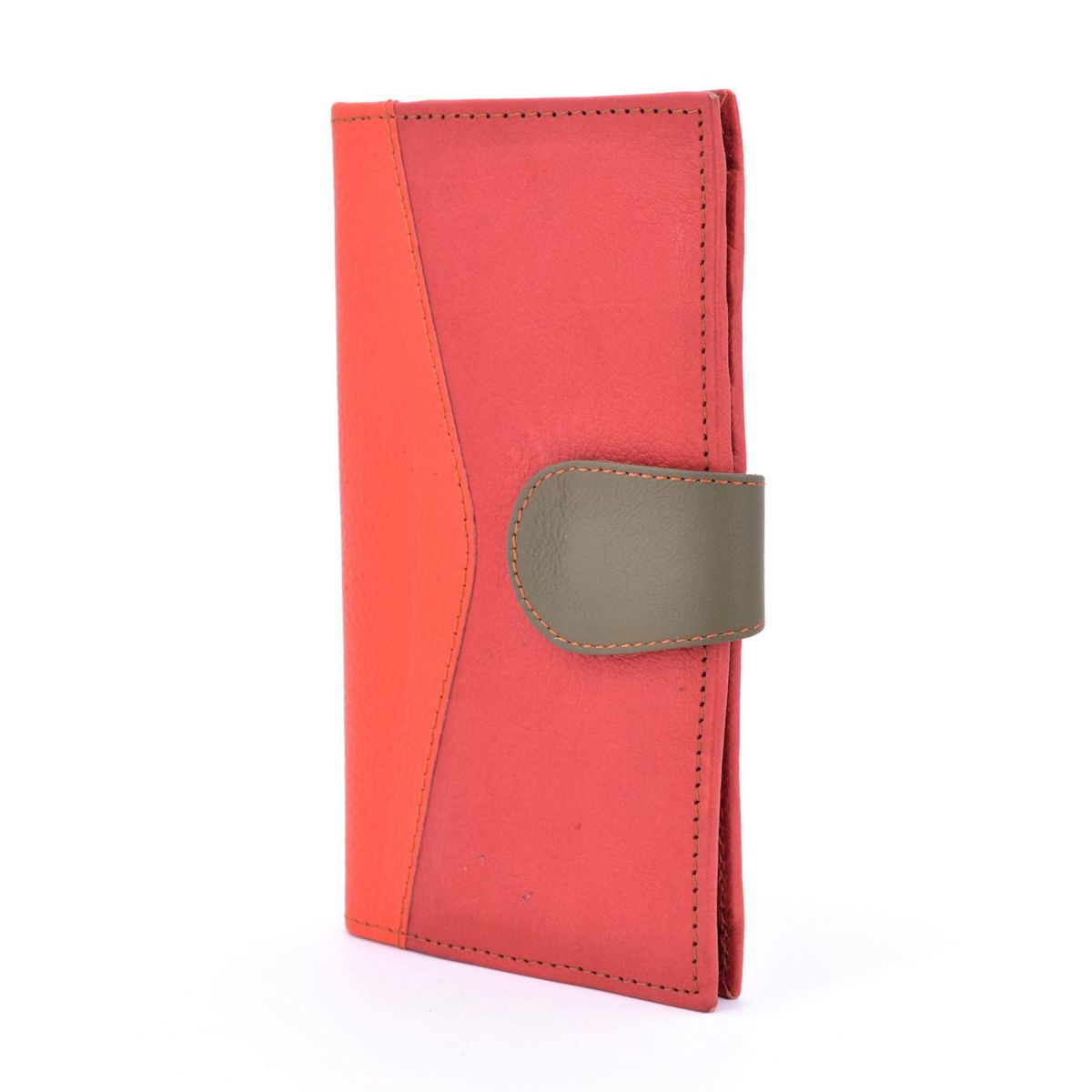 Colors wallet in red recycled leather Green BRASS Workshop