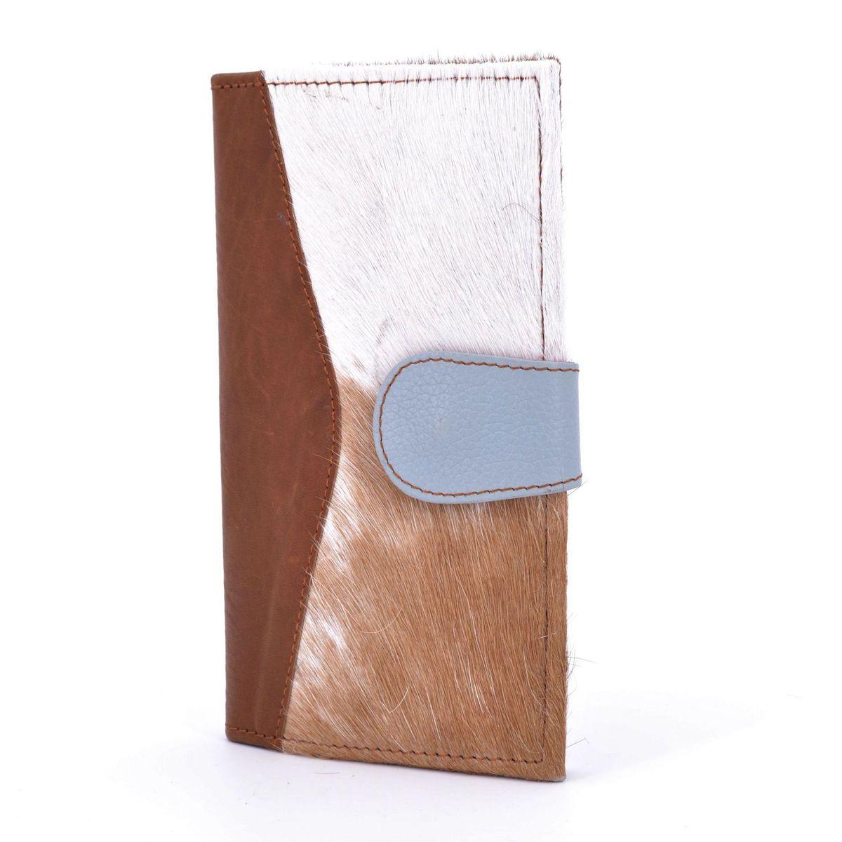Colors wallet in cavalino leather Brown BRASS Workshop