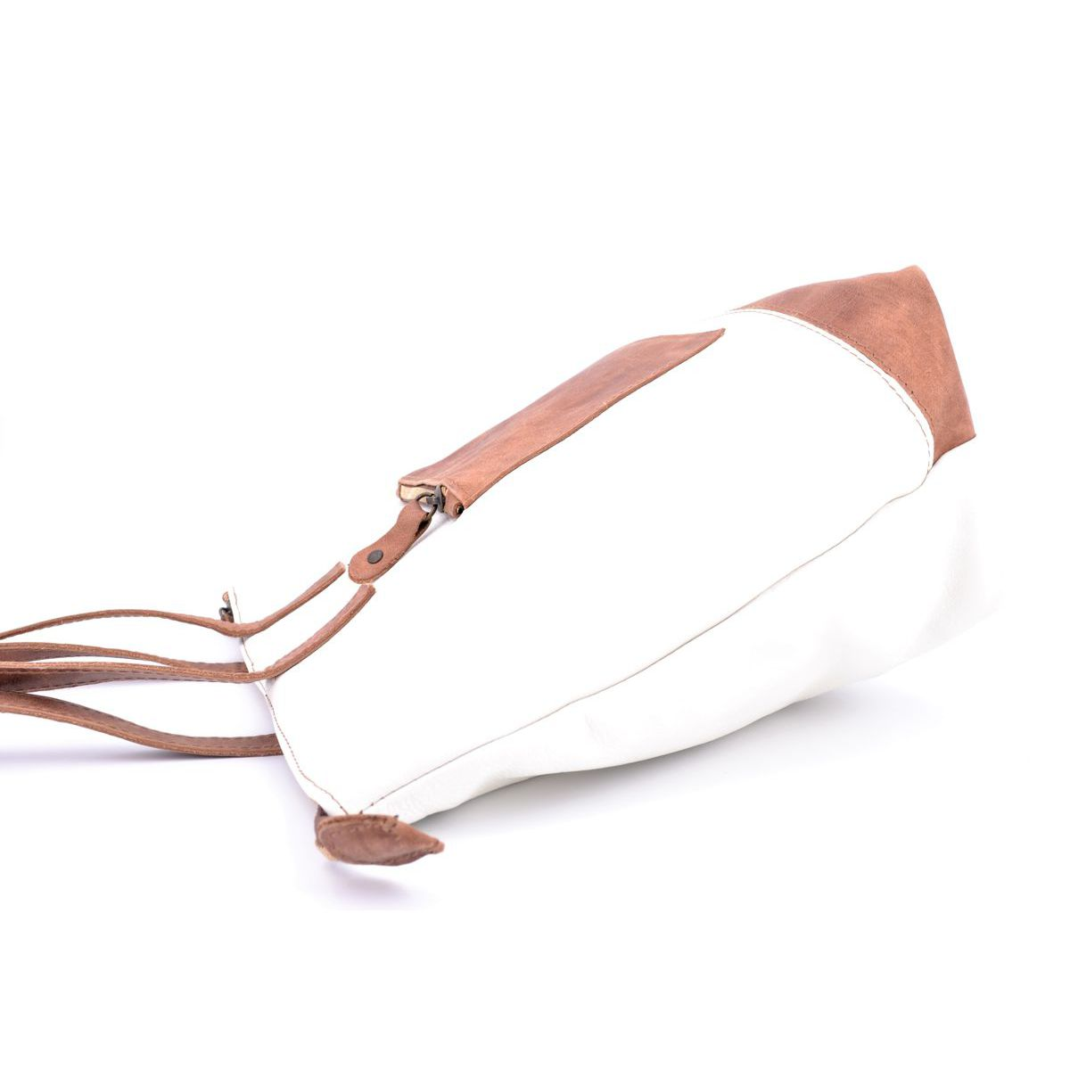 Morgado white leather bag White BRASS Workshop