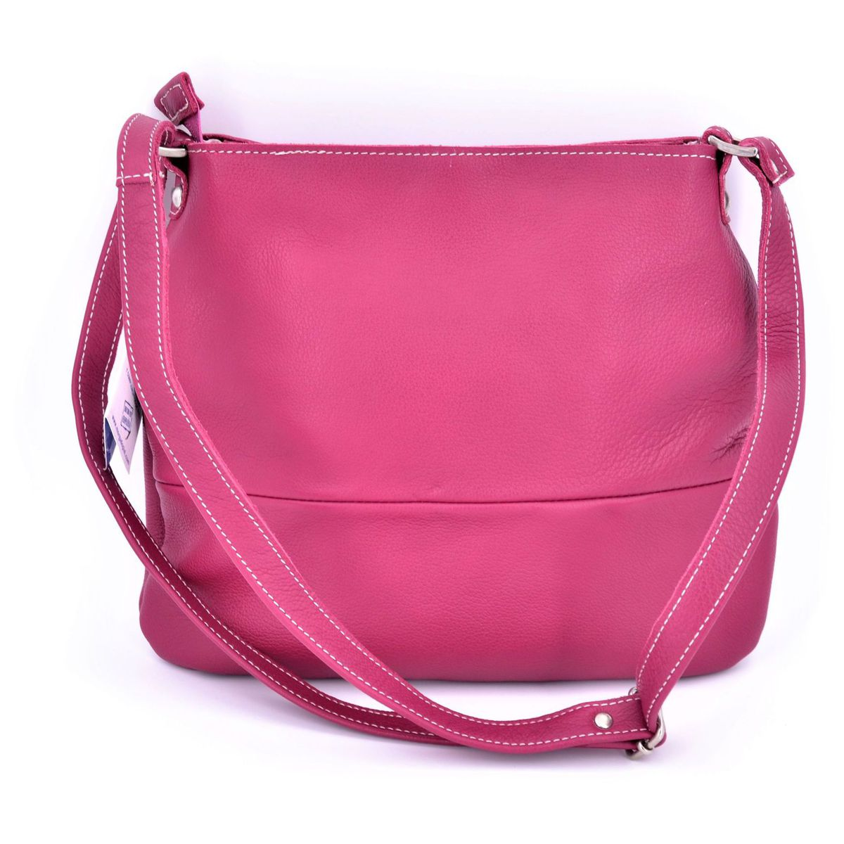 Morgado leather bag with shoulder strap Fuchsia BRASS Workshop