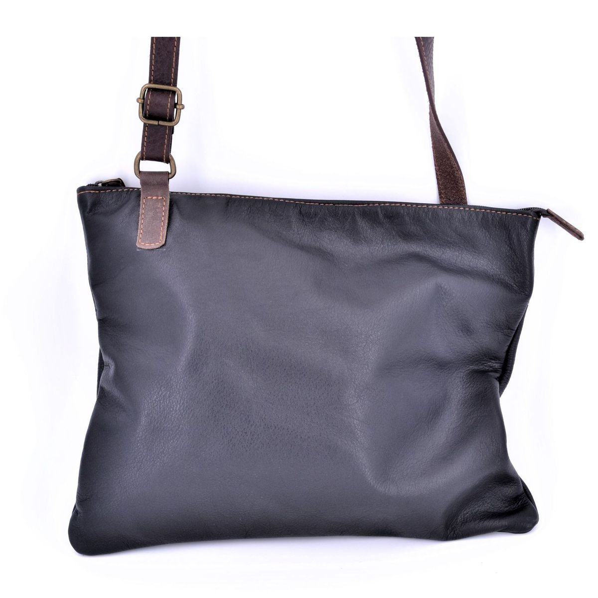 Morgado black leather bag Black BRASS Workshop