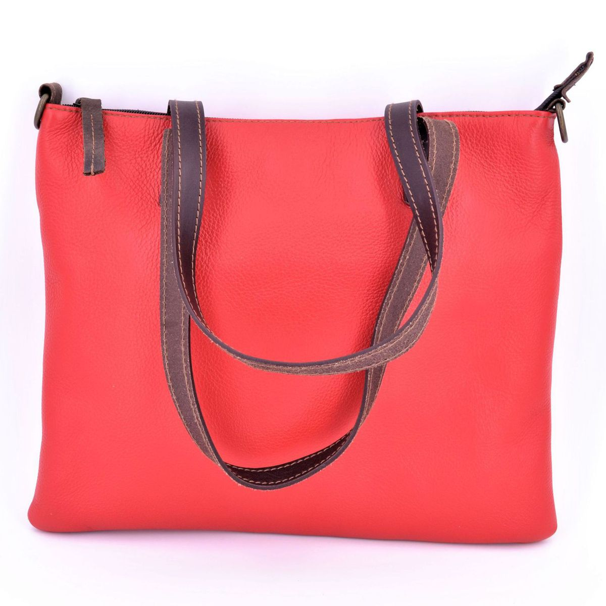 Morgado red leather bag Red BRASS Workshop