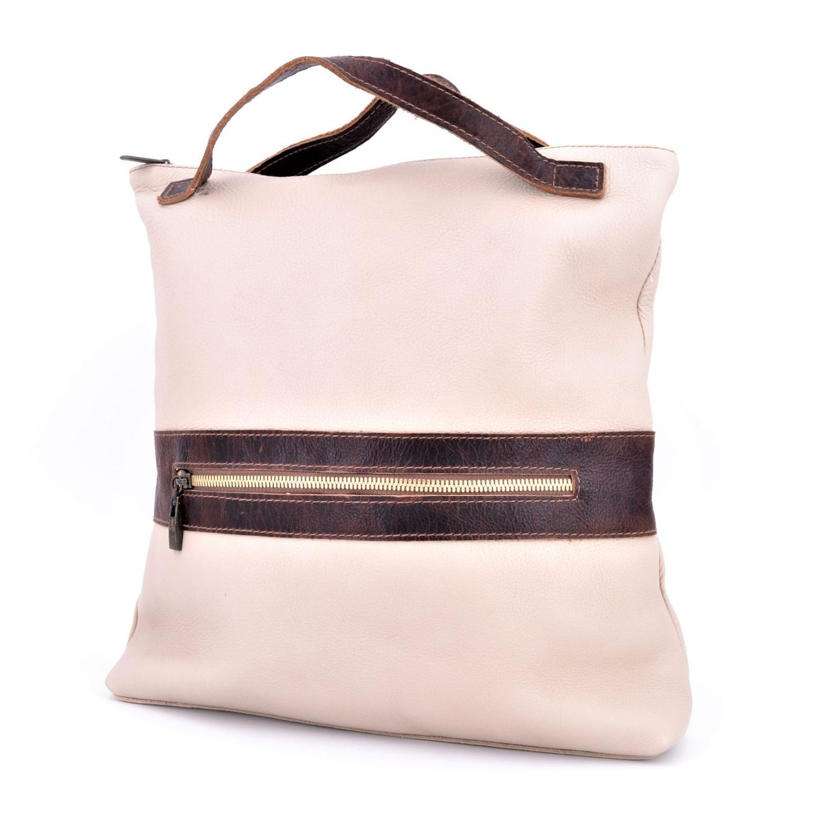Morgado leather backpack Beige BRASS Workshop