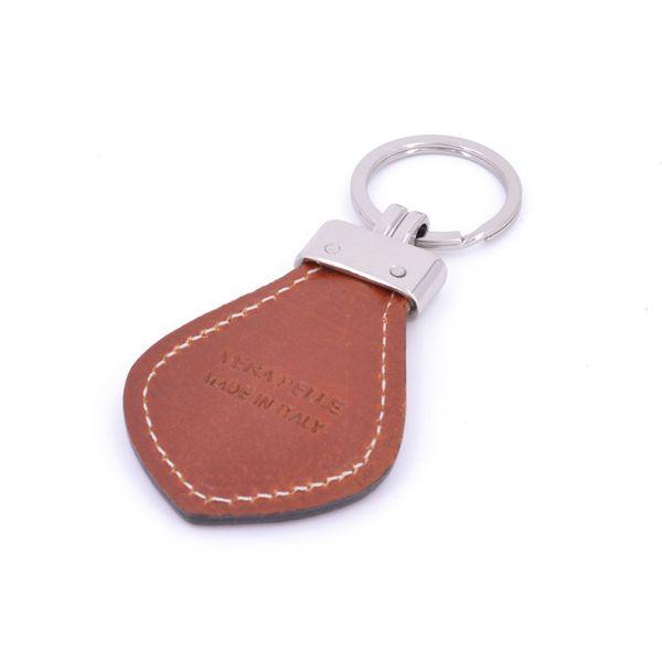 Keychain leather man Brown BRASS Workshop