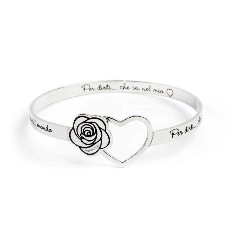 Rigid bracelet Mom Steel Marlù