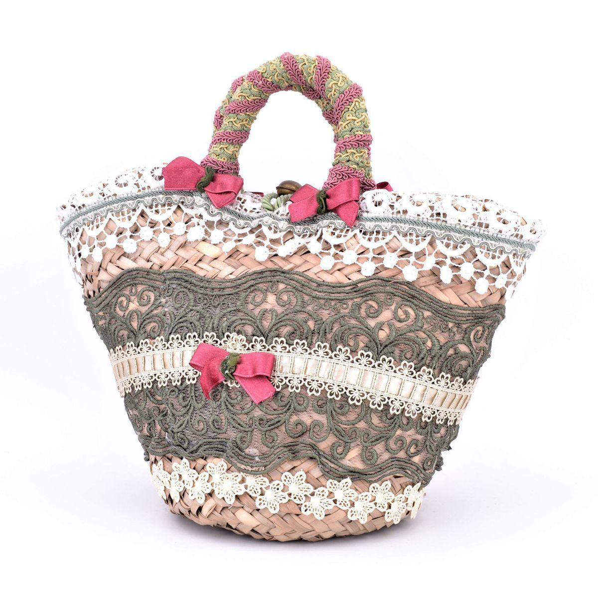 Sicilian Coffa Flowers Pink BRASS Workshop