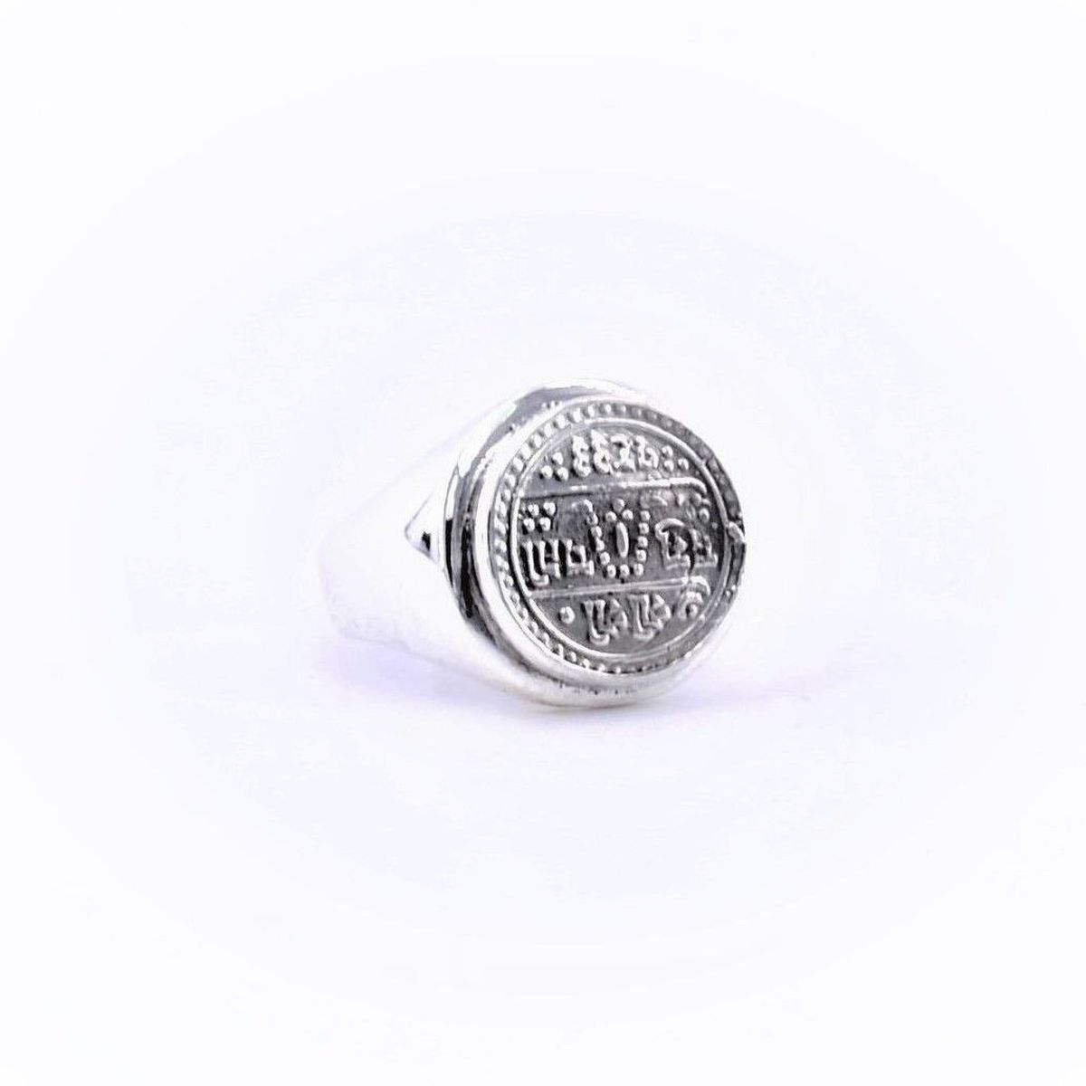 1. Good Luck, Stamp Ring Silver BRASS Gioielli