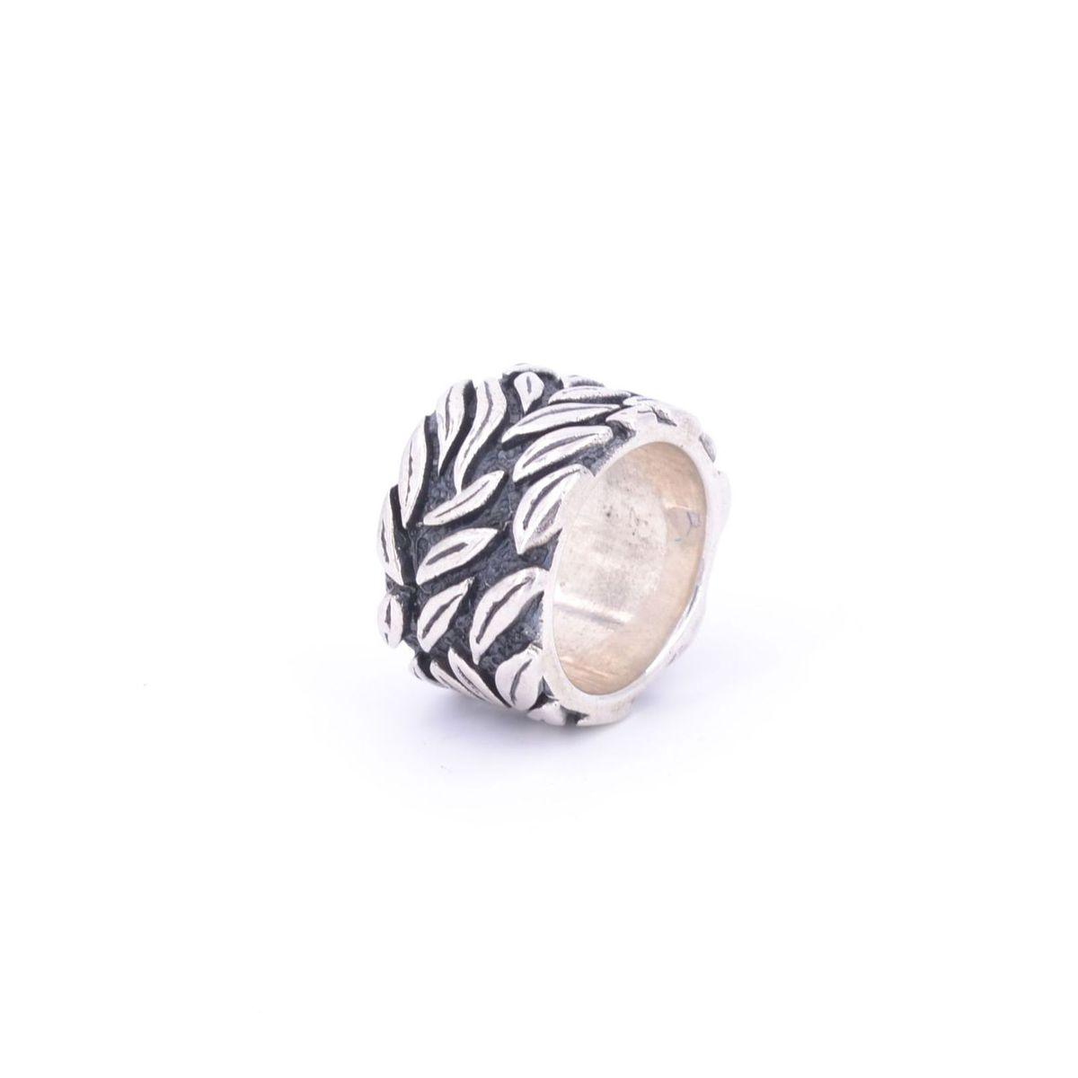 Silver ring925 leaves Silver BRASS Gioielli