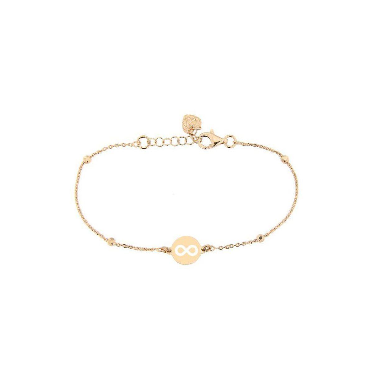 Infinity rosegold silver bracelet Rosegold BRASS Gioielli