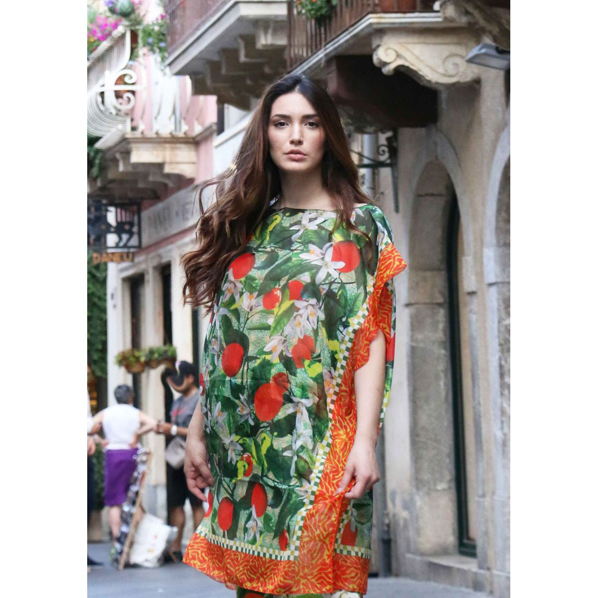 Oranges and blossom Kaftan Orange HELUNA