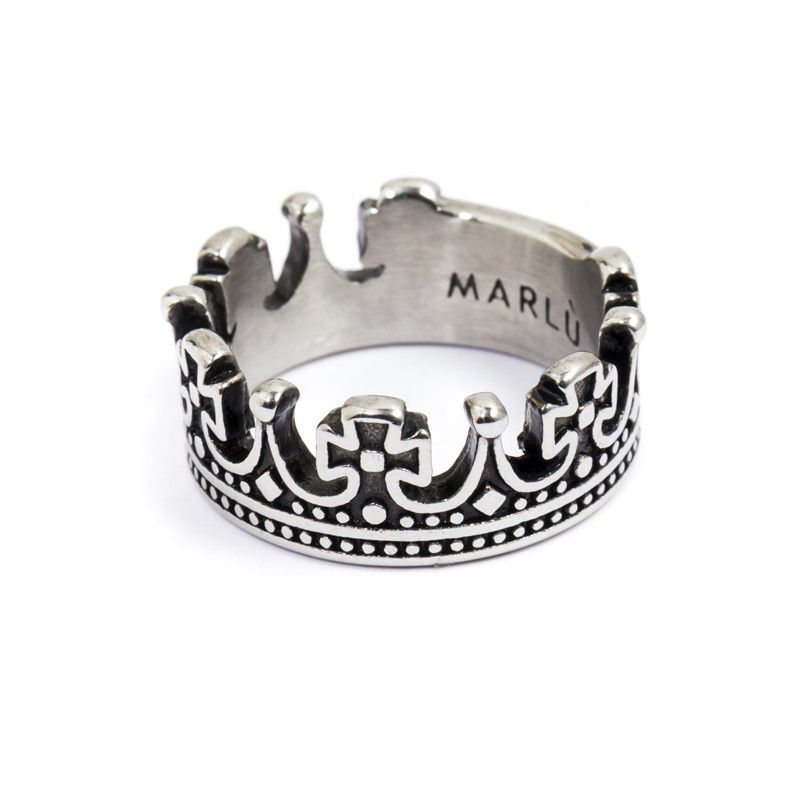 King crown ring Burnished Marlù