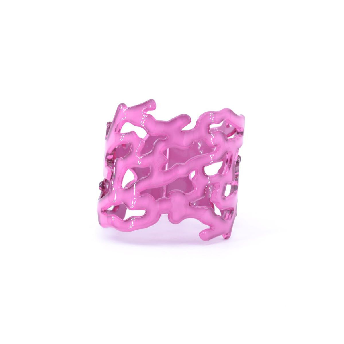 Coral resin bracelet Fucsia BRASS Workshop