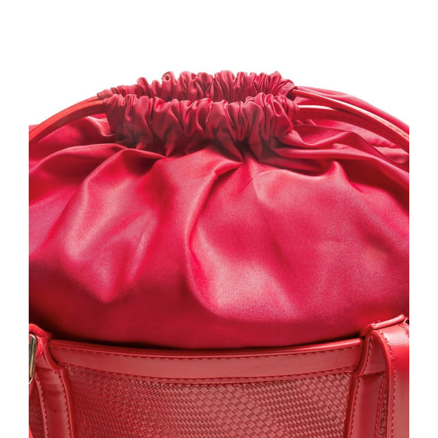 Semi-rigid faux leather bag Red Alessia Massimo