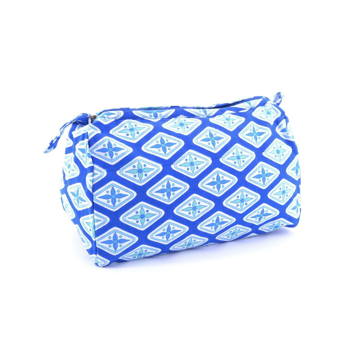 Fantasy cotton clutch bag Blue BRASS Workshop