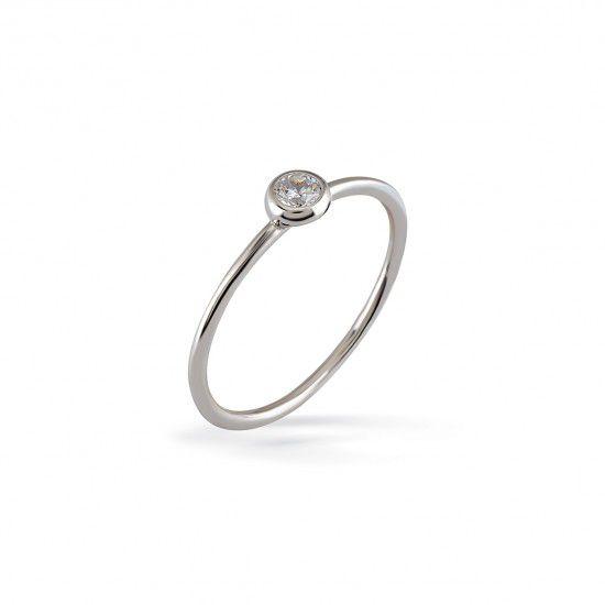 Glint, sterling silver ring White Kurshuni