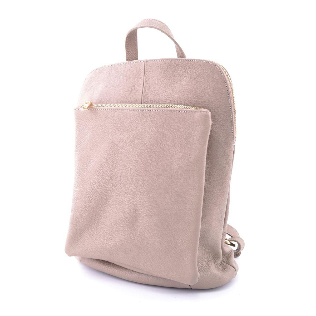 Leather backpack Task Beige BRASS Workshop