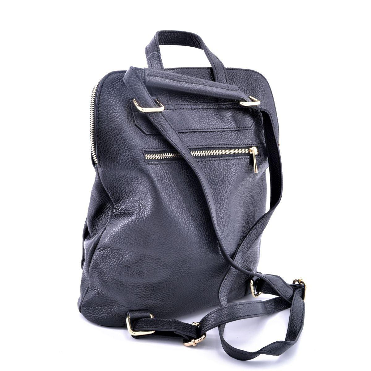 Leather backpack Task Black BRASS Workshop