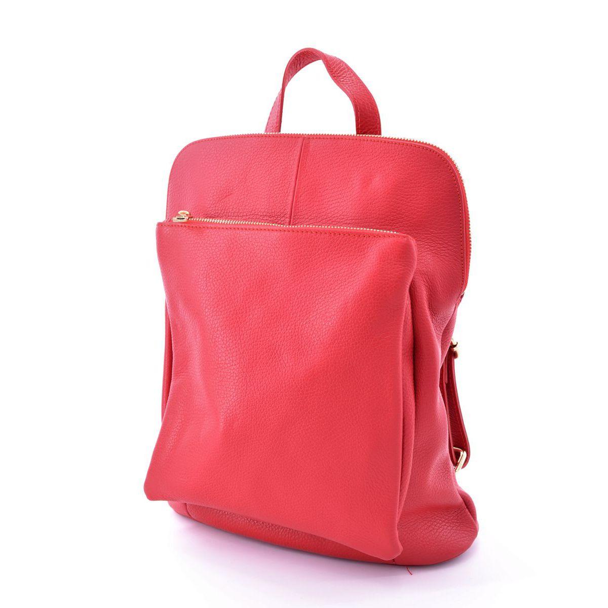 Leather backpack Task Red BRASS Workshop
