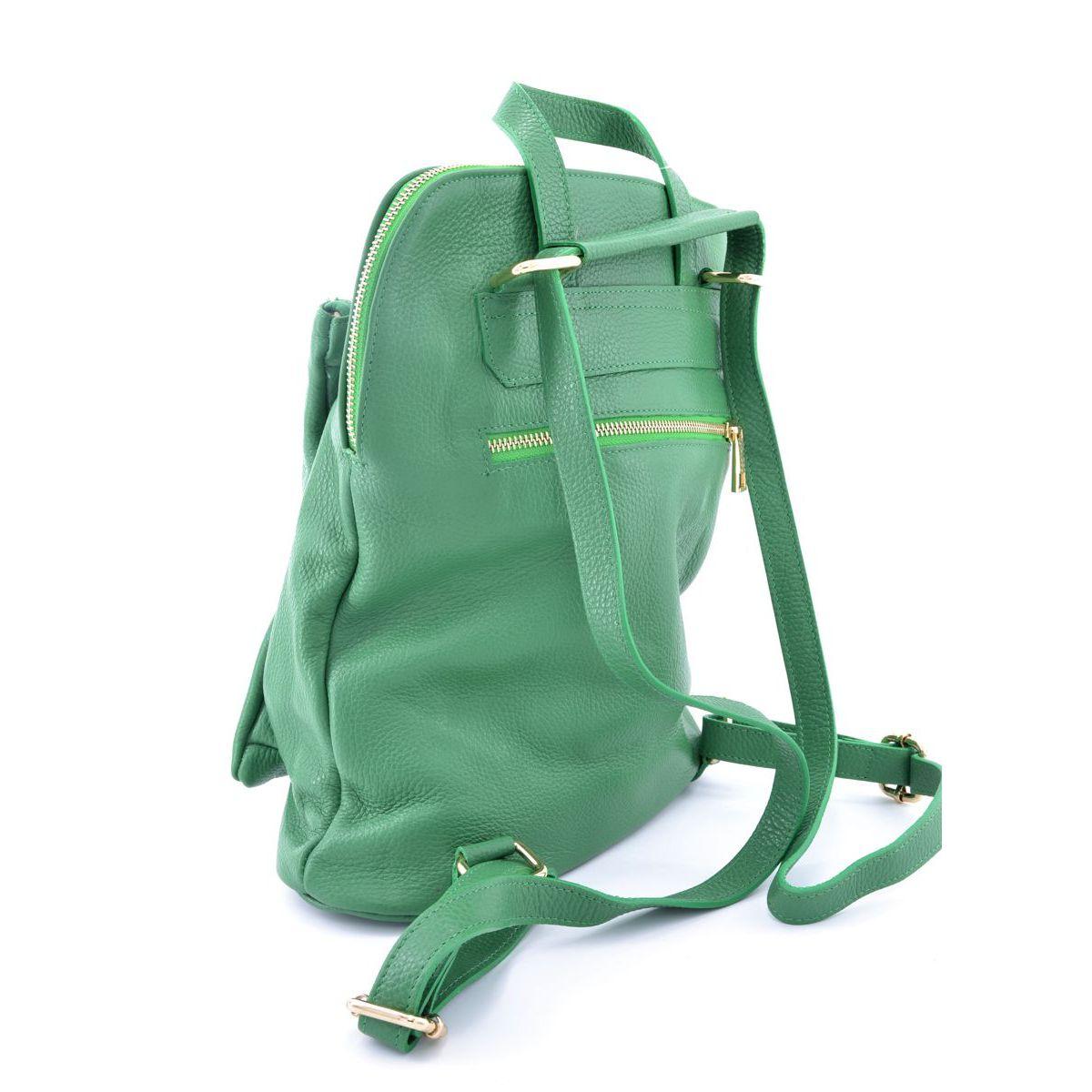 Leather backpack Task Green BRASS Workshop