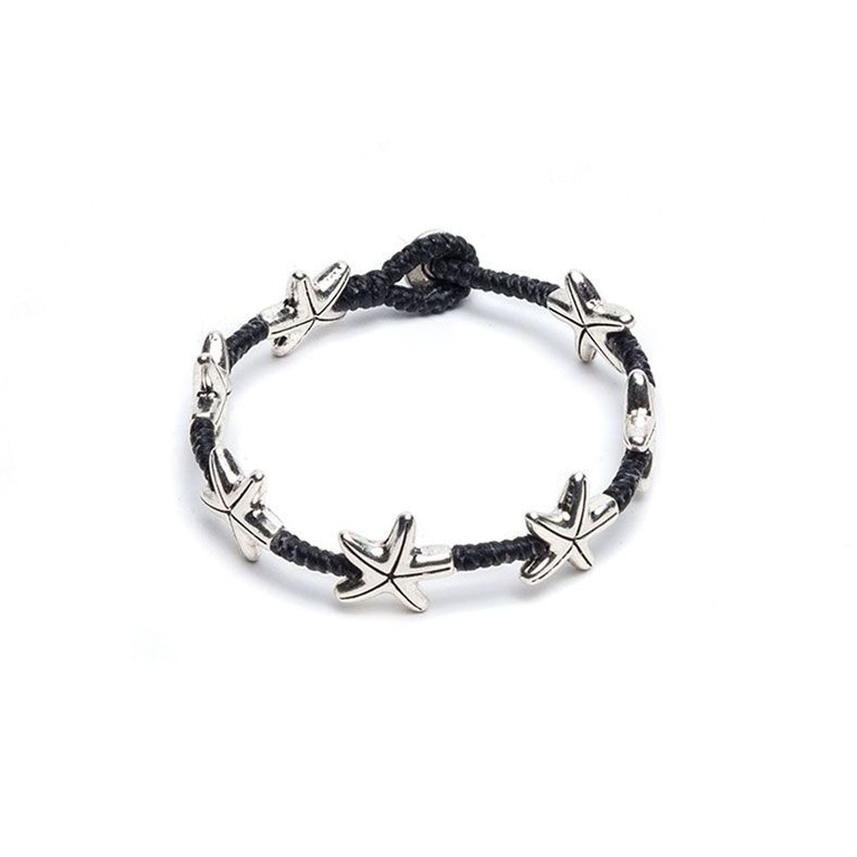 Macrame bracelet with starfish Black VestoPazzo