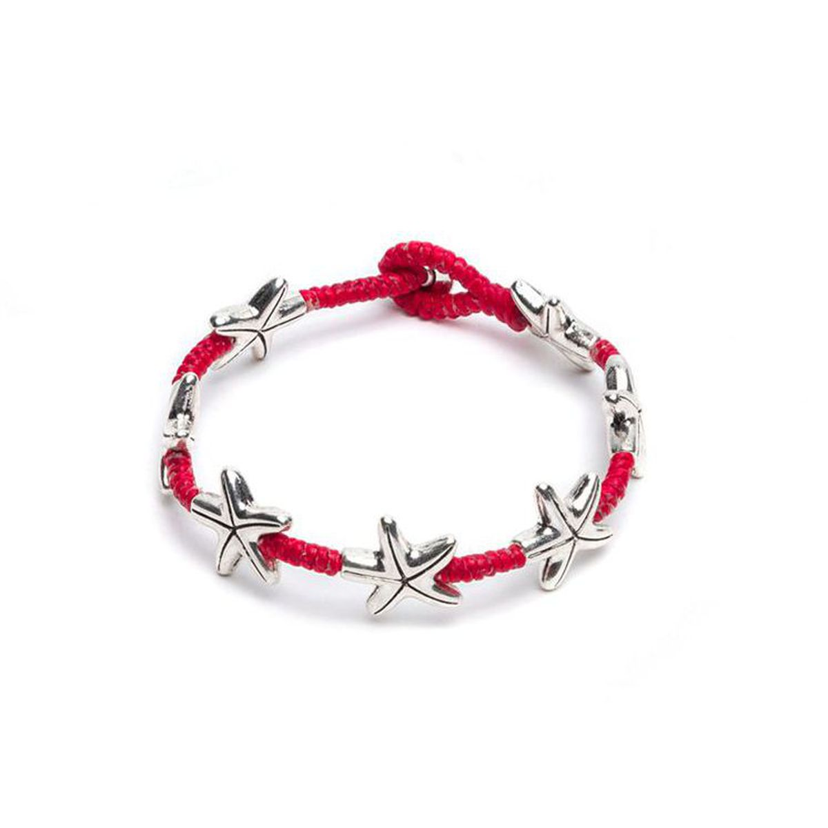 Macrame bracelet with starfish Red VestoPazzo