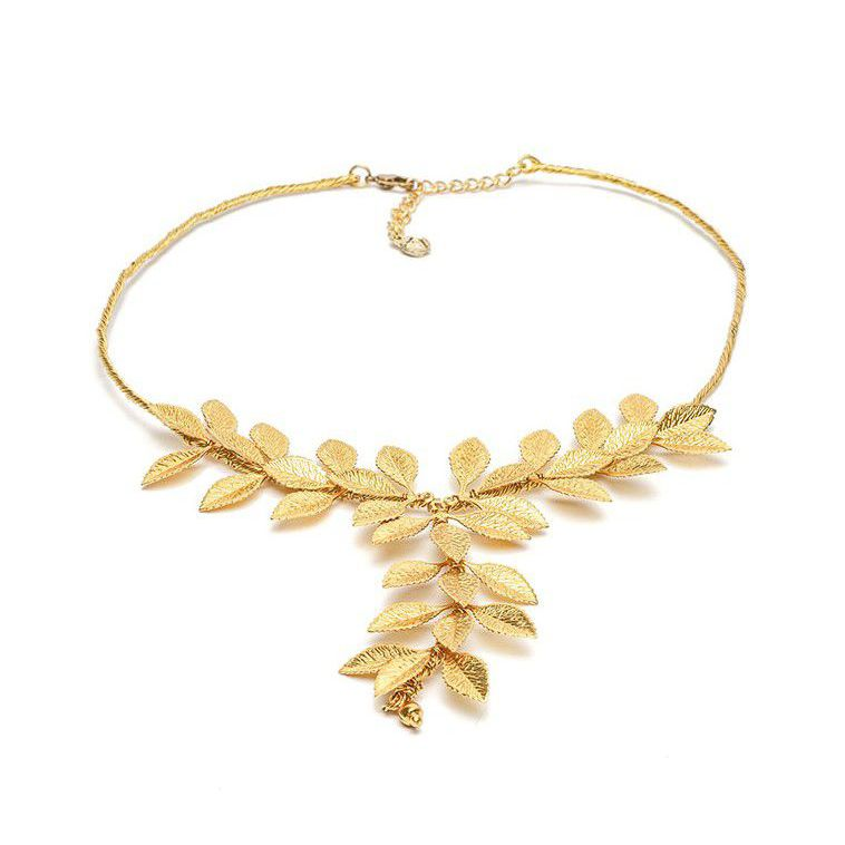 Micro leaves choker necklace Gold VestoPazzo